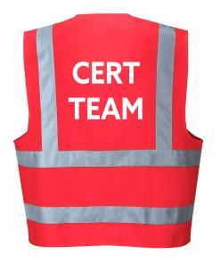 Red CERT team vest singapore