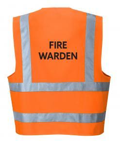 Orange Fire Warden Vest