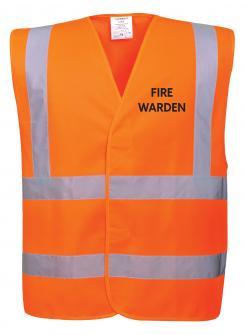 Orange Fire Warden Vest singapore