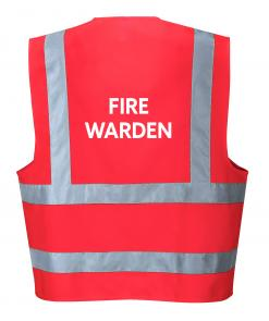 Red Fire Warden Vest