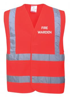 Red Fire Warden Vest singapore