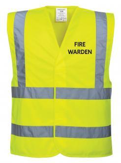 Yellow Fire Warden Vest singapore