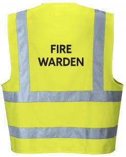 Yellow Fire Warden Vest
