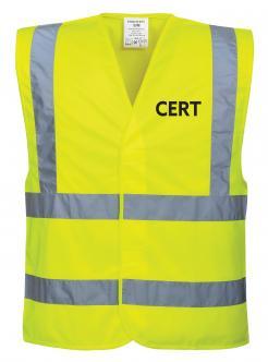 Yellow CERT vest