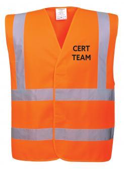 Orange CERT team vest