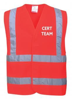 Red CERT team vest