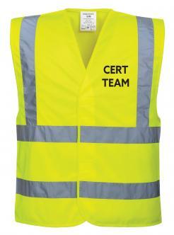 Yellow CERT team vest