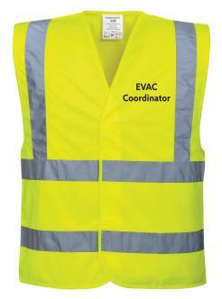 EVAC coordinator vest singapore