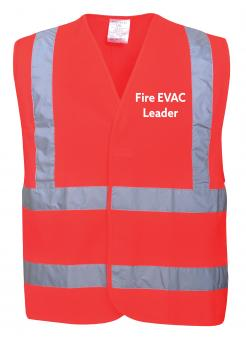 fire evacuation leader vest