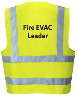 fire evacuation leader vest singapore