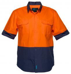 Hi-Vis Two Tone Regular Weight Short Sleeve Shirt Singapore