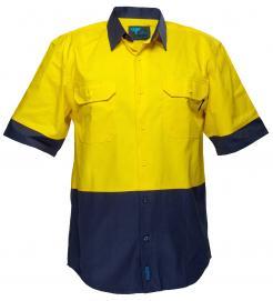 Hi-Vis Two Tone Regular Weight Short Sleeve Shirt