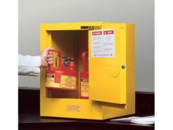Justrite Sure-Grip® EX Countertop Flammable Safety Cabinet,4 Gallon,1 Self-Close Door,Yellow