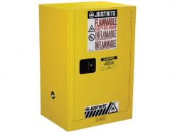 Justrite Sure-Grip® EX Compac Flammable Safety Cabinet, 12 Gallon, 1 Manual Close Door, Yellow