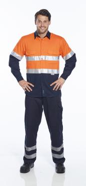 Hobart Hi-Vis Two Tone Regular Weight Long Sleeve Shirt with Tape Singapore