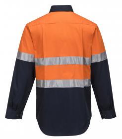 Hobart Shirt Hi-Vis Two Tone Regular Weight Long Sleeve Shirt with Tape Singapore