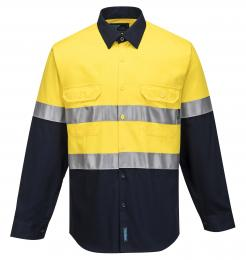 Hobart Shirt Hi-Vis Two Tone Regular Weight Long Sleeve Shirt with Tape