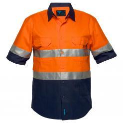 Hobart Hi-Vis Two Tone Regular Weight Short Sleeve Shirt with Tape