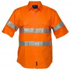 Darwin Hi-Vis Regular Weight Short Sleeve Shirt with Tape
