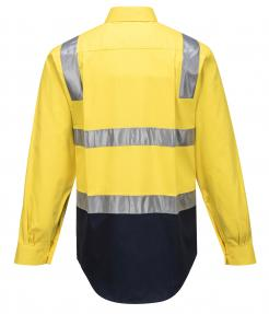 Perth Hi-Vis Two Tone Regular Weight Shirt with Tape Over Shoulder Singapore