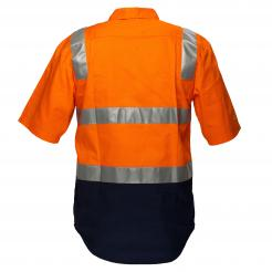 Perth Hi-Vis Two Tone Regular WeightShort Sleeve Shirt with Tape Over Shoulder Singapore