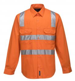 Perth Hi-Vis Two Tone Regular Weight Shirt with Tape Over Shoulder