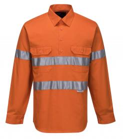 Darwin Hi-Vis Long Sleeve Closed Front Shirt with Tape