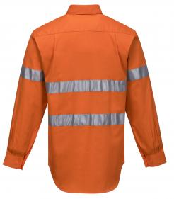 Darwin Hi-Vis Long Sleeve Closed Front Shirt with Tape Singapore
