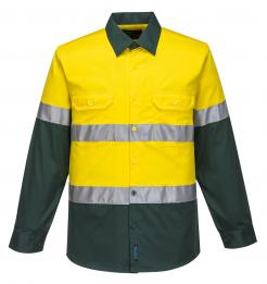yellow green hi vis shirt