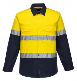 yellow blue hi vis shirt