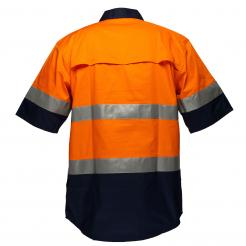 Hi Vis orange navy short sleeve shirt