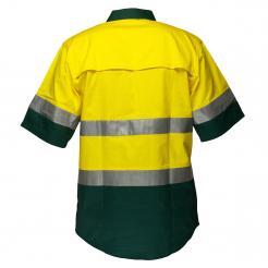Hi Vis yellow green short sleeve shirt