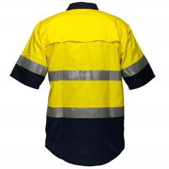 Hi Vis yellow navy short sleeve shirt