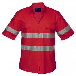 Hi-Vis Lightweight Short Sleeve Shirt with Tape