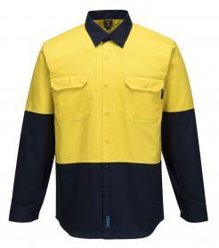 Hi-Vis Two Tone Regular Weight Long Sleeve Shirt