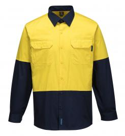 Hi-Vis Two Tone Lightweight Long Sleeve Shirt