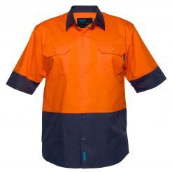 Canberra Hi-Vis Two Tone Lightweight Short Sleeve Shirt