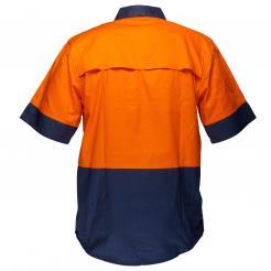 Hi-Vis Two Tone Lightweight Short Sleeve Closed Front Shirt