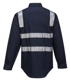 Brisbane Regular Weight Long Sleeve Shirt with Tape Over Shoulders (MS908)