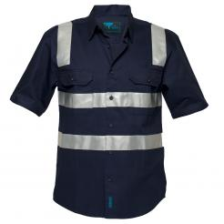 Brisbane Regular Weight Short Sleeve Shirt with Tape Over Shoulders (MS909)