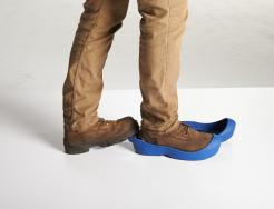 YULEYS Clean Step System, Blue Reusable Boot and Shoe Covers