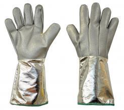 Foundry Heatbeater Modified glass mitten with aluminised glass fabric cuff