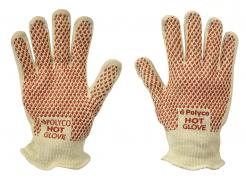 Hot Glove Short Double layered cotton glove with nitrile grip coating
