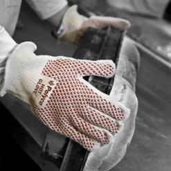 Hot Glove Short Double layered cotton glove with nitrile grip coating Singapore
