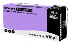 Clear vinyl powder free disposable glove