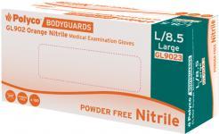 Orange nitrile powder free disposable glove Singapore
