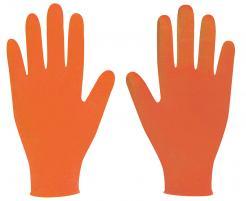 Orange nitrile powder free disposable glove