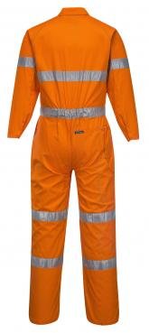 Lightweight Orange Coveralls with Reflective Tape Singapore