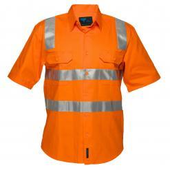 orange hi vis short sleeve shirt