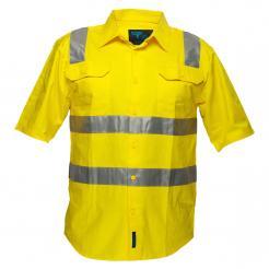 yellow hi vis short sleeve shirt singapore